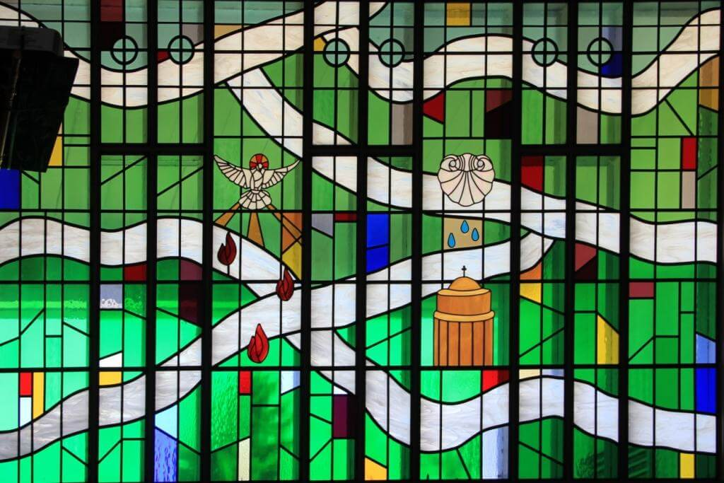 Zion Lutheran Coravallis Oregon Green Stained Glass