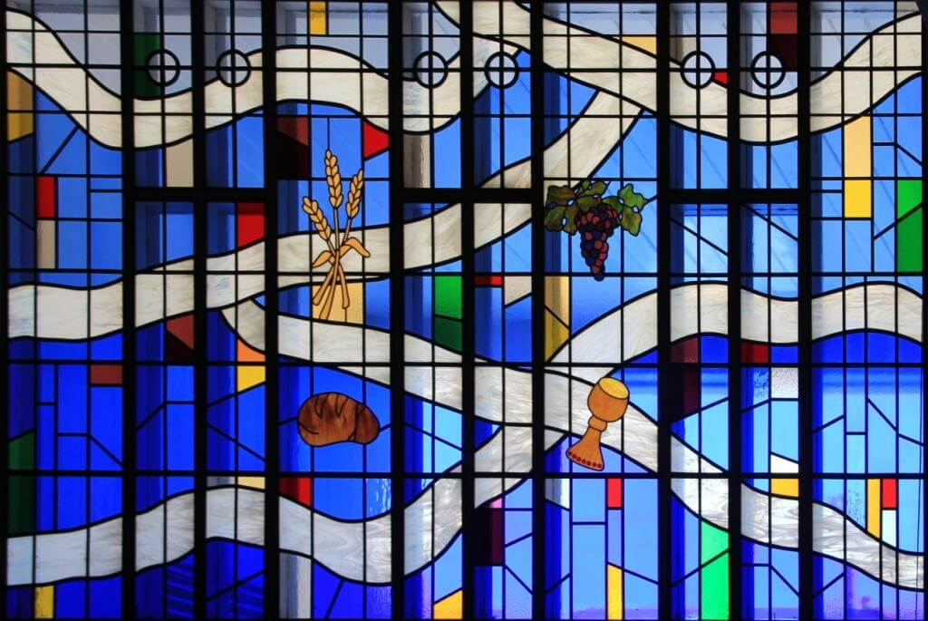 Zion Lutheran Corvallis Stained Glass Blue