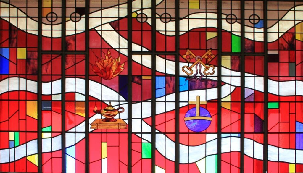 Zion Lutheran Corvallis Stained Glass Red
